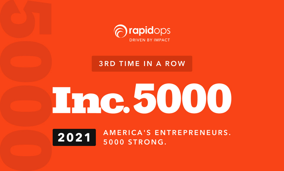 Rapidops is No. 1050 on its annual Inc. 5000 list